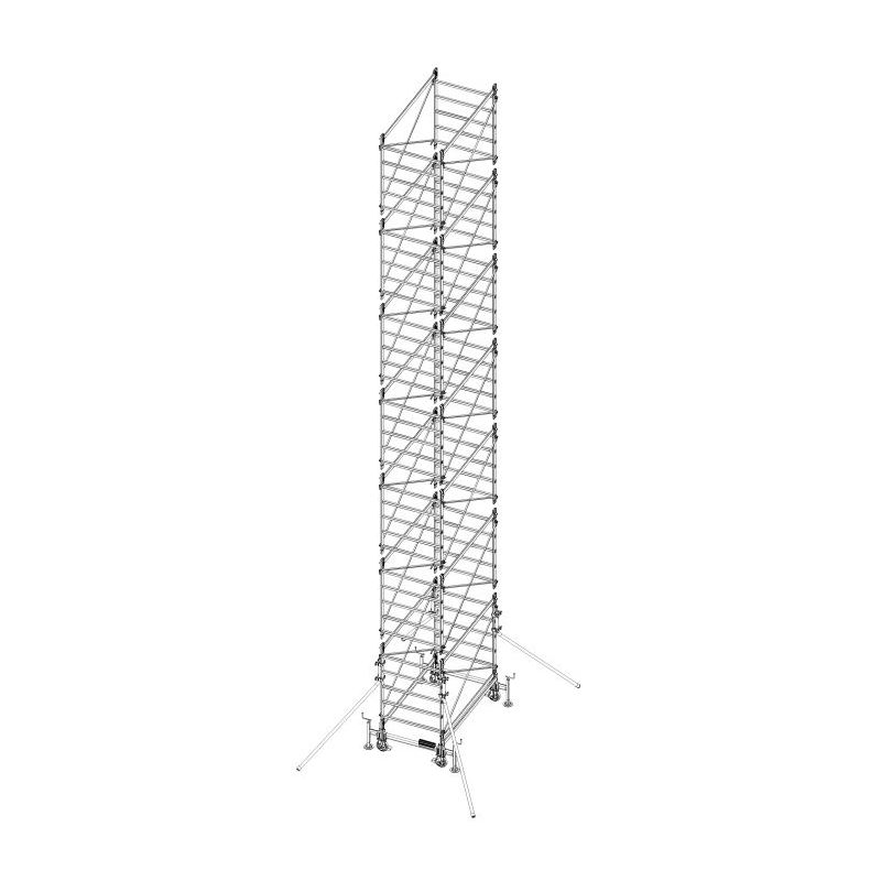 PROFESSIONAL SCAFFOLD TOWER DOGE 80 - 11, 14 m, PROFESSIONAL