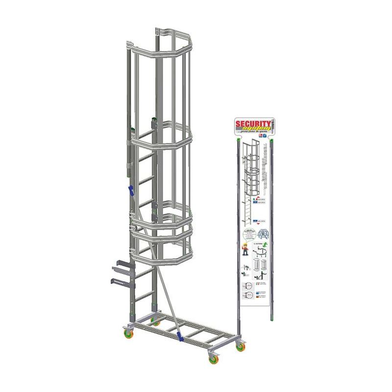 VERTICAL LADDER SECURITY SYSTEM STAND