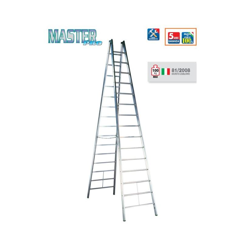 DOUBLE-SIDED STEPLADDER MASTER PRO