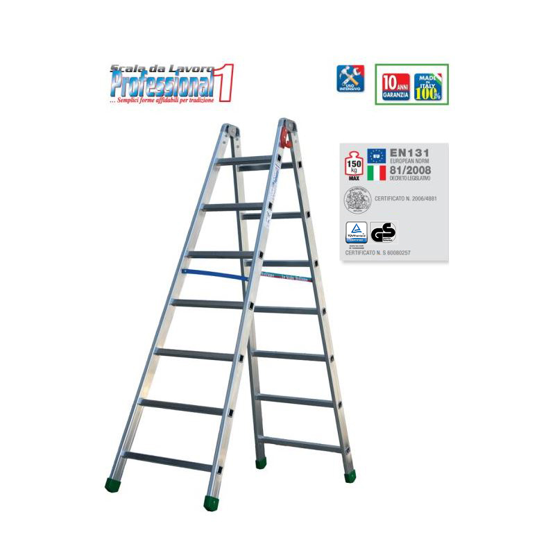 DOUBLE-SIDED RUNG STEPLADDER PROFESSIONAL 1