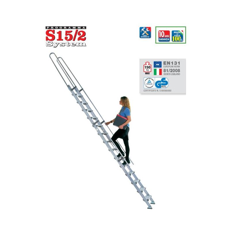 SHELF LADDER S15/2 - 4,5 m
